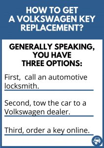 How to get a Volkswagen key replacement