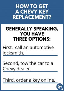 How to get a Chevy key replacement