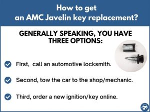 How to get an AMC Javelin replacement key