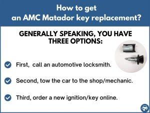 How to get an AMC Matador replacement key