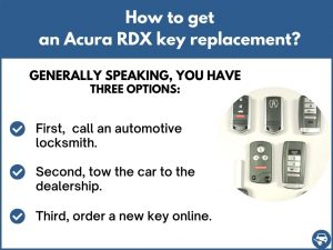 How to get an Acura RDX replacement key