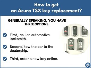 How to get an Acura TSX replacement key