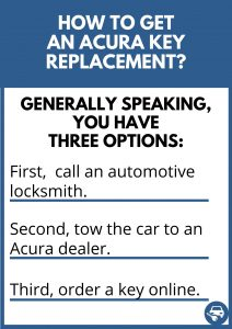 How to get an Acura key replacement