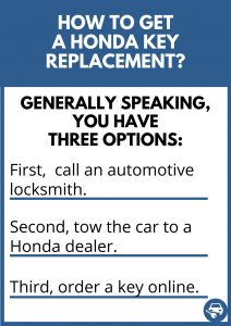 How to get a Honda key replacement