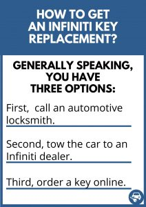 How to get an Infiniti key replacement