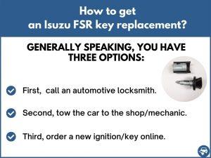 How to get an Isuzu FSR replacement key