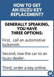 How to get an Isuzu key replacement