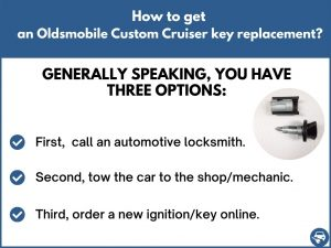 How to get an Oldsmobile Custom Cruiser replacement key