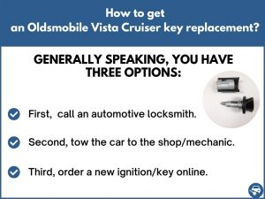 How to get an Oldsmobile Vista Cruiser replacement key