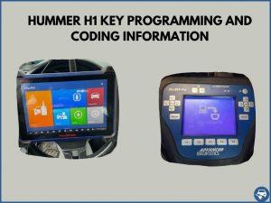 Automotive locksmith programming a Hummer H1 key on-site