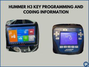 Automotive locksmith programming a Hummer H3 key on-site