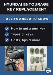 Hyundai Entourage key replacement - All you need to know