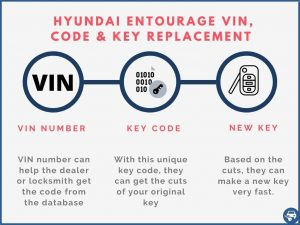 Hyundai Entourage key replacement by VIN