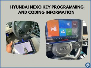 Automotive locksmith programming a Hyundai Nexo key on-site