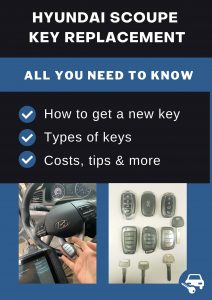 Hyundai Scoupe key replacement - All you need to know