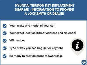 Hyundai Tiburon key replacement service near your location - Tips