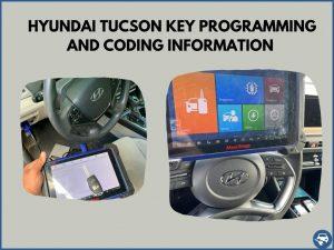 Automotive locksmith programming a Hyundai Tucson key on-site