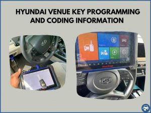 Automotive locksmith programming a Hyundai Venue key on-site
