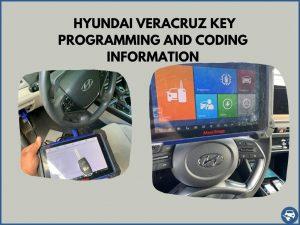 Automotive locksmith programming a Hyundai Veracruz key on-site