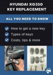 Hyundai XG350 key replacement - All you need to know