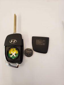 Hyundai transponder key battery replacement information