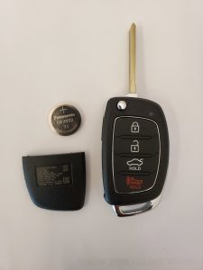 Battery replacement for Hyundai flip key
