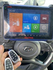 2021 Hyundai key fob coded on-site by an automotive locksmith (TQ8-FOB-4F28 or 95440-L1010 key)