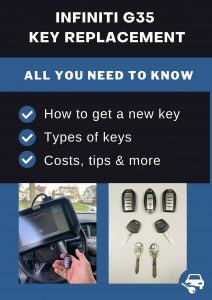Infiniti G35 key replacement - All you need to know