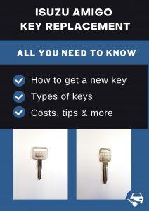 Isuzu Amigo key replacement - All you need to know