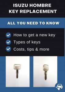 Isuzu Hombre key replacement - All you need to know