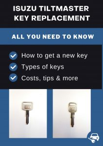 Isuzu Tiltmaster key replacement - All you need to know