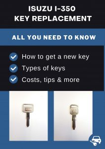 Isuzu i-350 key replacement - All you need to know
