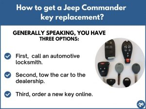 How to get a Jeep Commander replacement key