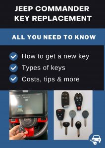 Jeep Commander key replacement - All you need to know
