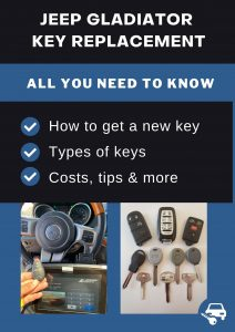 Jeep Gladiator key replacement - All you need to know