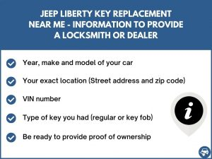 Jeep Liberty key replacement service near your location - Tips