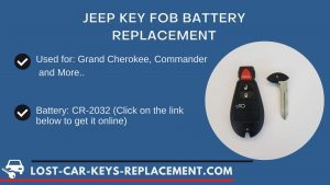 Jeep key fob battery replacement