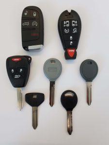Variety of Jeep keys - Key fobs, transponder, non chip and keyless entry