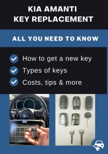Kia Amanti key replacement - All you need to know