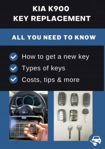 Kia K900 key replacement - All you need to know