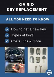 Kia Rio key replacement - All you need to know