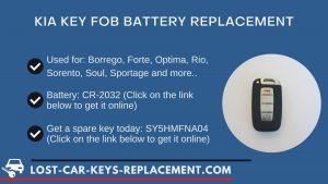 Kia key fob battery replacement tutorial video