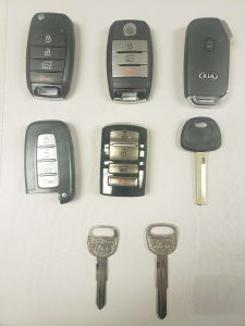 Replacement car keys - Kia (Key fobs, transponder and non-chip)