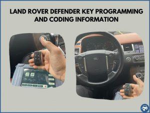 Automotive locksmith programming a Land Rover Defender key on-site