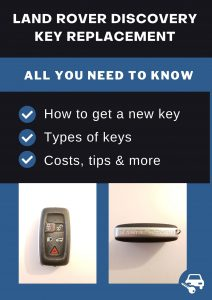 Land Rover Discovery key replacement - All you need to know