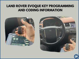 Automotive locksmith programming a Land Rover Evoque key on-site