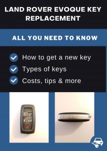 Land Rover Evoque key replacement - All you need to know