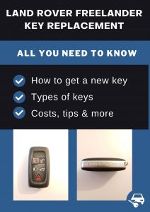 Land Rover Freelander key replacement - All you need to know