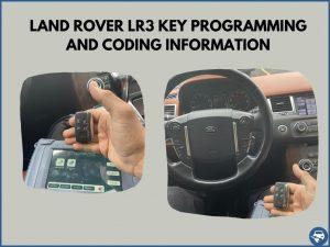 Automotive locksmith programming a Land Rover LR3 key on-site