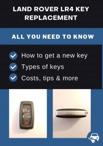 Land Rover LR4 key replacement - All you need to know